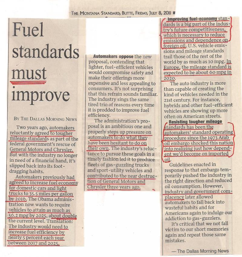 Fuel Stanadards must improve revised